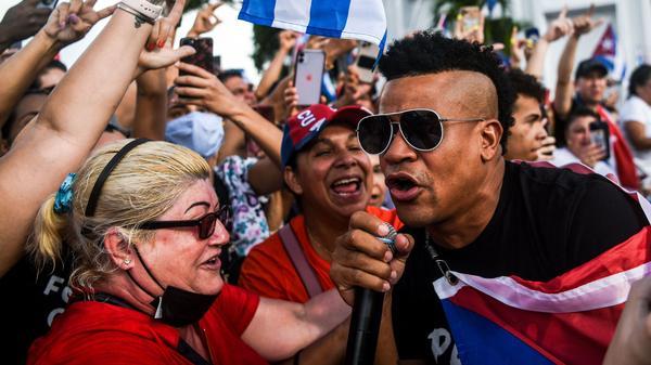 "Gente de Zona's ""Patria y Vida"" (pictured, right: Randy Malcom in Miami) reclaims a slogan made popular at the birth of the Cuban revolution, ""Patria o Muerte"" (Homeland or Death), 62 years ago."