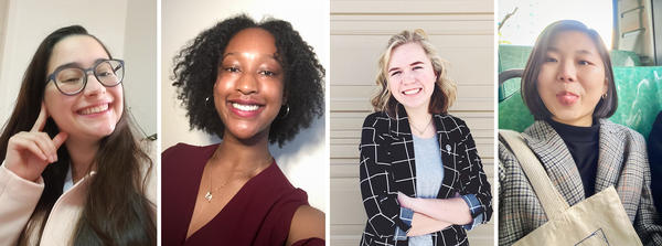 From left: Giovanna Basso, Mofiyin Onanuga, Emma Fetzer and Joanne Lee are teen leaders for the U.N.-sponsored gender equality group Girl Up. They attended Girl Up's virtual conference last week, which featured Nobel Peace Prize winner Malala Yousafzai as a guest speaker.
