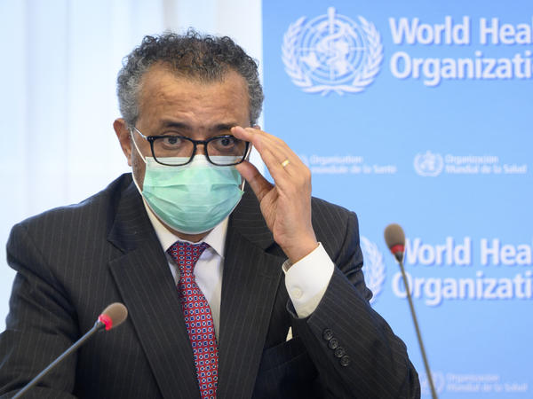 In this May 24, 2021 file photo, Tedros Adhanom Ghebreyesus, Director General of the WHO, speaks at WHO headquarters, in Geneva, Switzerland. The WHO is asking China to be more transparent as scientists search for the origins of the coronavirus.