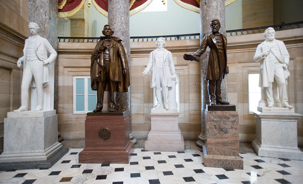 Statuary Hall is seen in 2015. A group of senators is introducing a new effort to increase the number of statues of women in the halls of the U.S. Capitol.