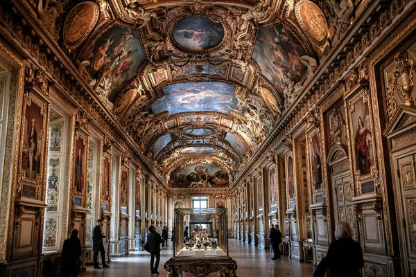 The Apollon Gallery at the Louvre museum in Paris on Jan. 14, 2020.