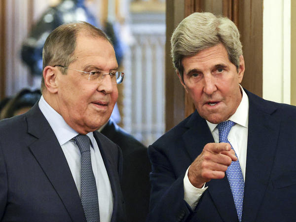 Russian Foreign Minister Sergey Lavrov (left) and John Kerry, U.S. special presidential envoy for climate, meet this week in Moscow. Kerry's trip was clearly aimed at improving the bilateral climate as well.