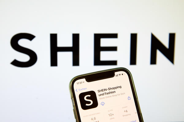 A Shein app, here in a photo illustration, in the IOS App Store in Bargteheide, Germany. Shein has become the most-installed shopping app in America.
