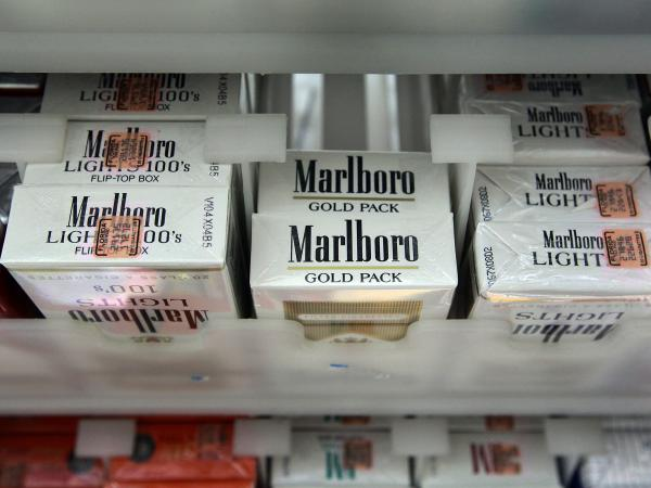 A pack of Marlboro cigarettes at a store in Miami. Philip Morris International's CEO Jacek Olczak said the company will stop selling Marlboro cigarettes in the U.K. in the next 10 years.