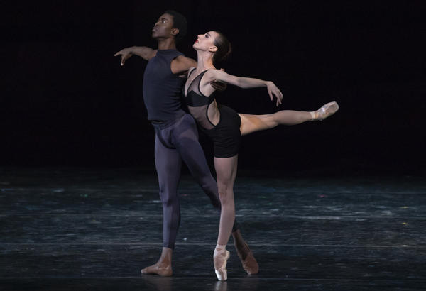 """Calvin Royal III and Isabella Boylston perform """"This Bitter Earth"""" at the 2018 Vail Dance Festival."""