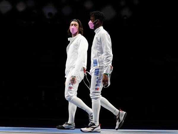 """The """"performative activism"""" by Americans Jacob Hoyle and Curtis McDowald on Friday was the latest criticism over allowing a man accused of sexual assault to attend the Olympics."""