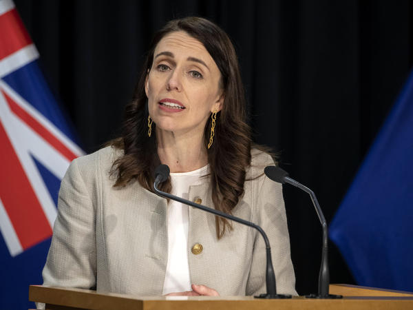 New Zealand Prime Minister Jacinda Ardern, seen above at a COVID-19 press conference in August 2020, has apologized for the 1970s Dawn Raids.