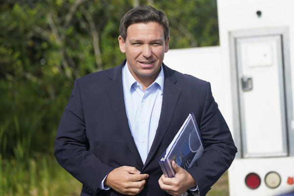 At a news conference in Miami last week, Florida Gov. Ron DeSantis insisted that the state's record spike in COVID-19 hospitalizations will be short-lived.