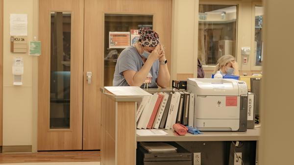 The ICU Covid-19 ward at NEA Baptist Memorial Hospital in Jonesboro, Ark., last week.