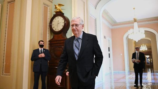 Senate Minority Leader Mitch McConnell of Kentucky is among the 19 Republicans who voted for the $1 trillion infrastructure bill on Tuesday.