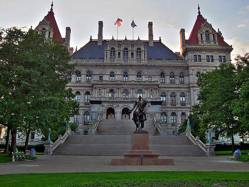 The New York Capitol Building in Albany
