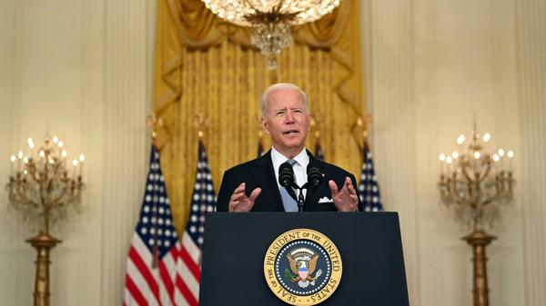 President Biden delivers remarks Monday about the situation in Afghanistan for the first time since the Taliban's takeover.