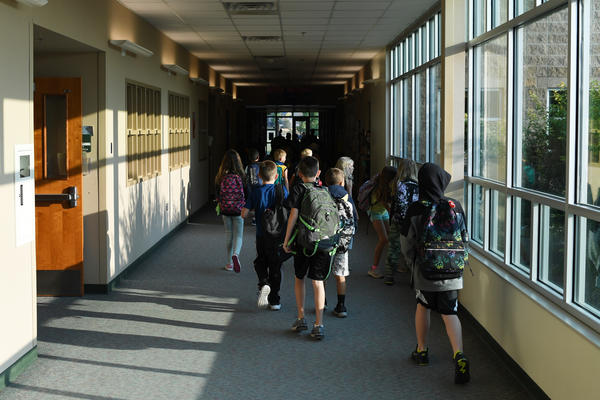 Students head to class this month in Thornton, Colo. Infectious disease experts say the decline in vaccination rates against childhood diseases during the pandemic has increased the potential for outbreaks of diseases once largely vanquished in the United States.