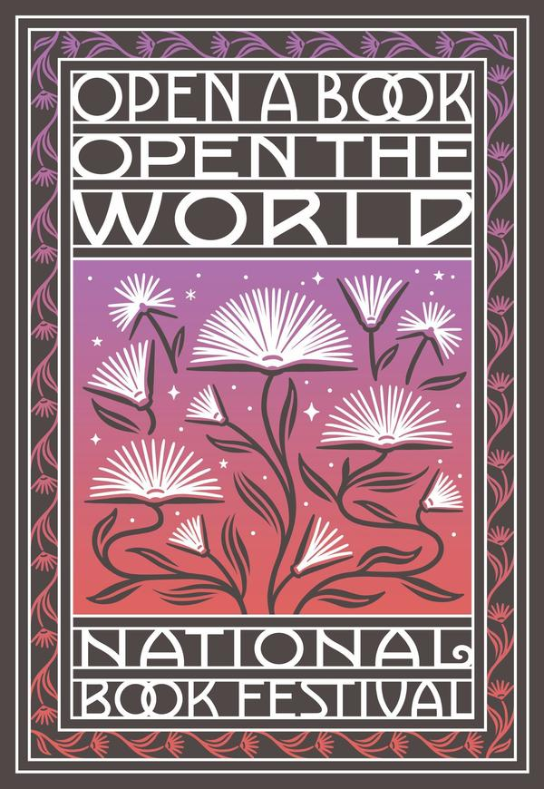 """The 2021 Library of Congress National Book Festival will celebrate the theme """"Open a Book, Open the World."""""""