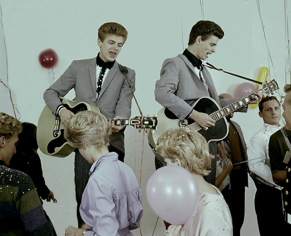 In the 1950s, when they were barely adults themselves, Phil (left) and Don Everly took pieces of musical traditions and created songs that gave voice to a new youth culture that balanced, with all the awkwardness of teenage life, on an edge between anxiety about and hope for the future.