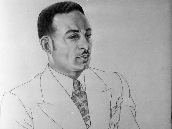 A drawing of composer William Dawson in 1935 by Aaron Douglas. Dawson's <em>Negro Folk Symphony</em>, long neglected, has received a new recording.