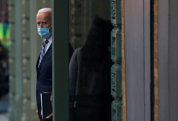 President-elect Joe Biden leaves the Queen Theater where earlier in the day he addressed the media about the Trump Administration's lawsuit to overturn the Affordable Care Act  on November 10, 2020 in Wilmington, Delaware.  (Joe Raedle/Getty Images)
