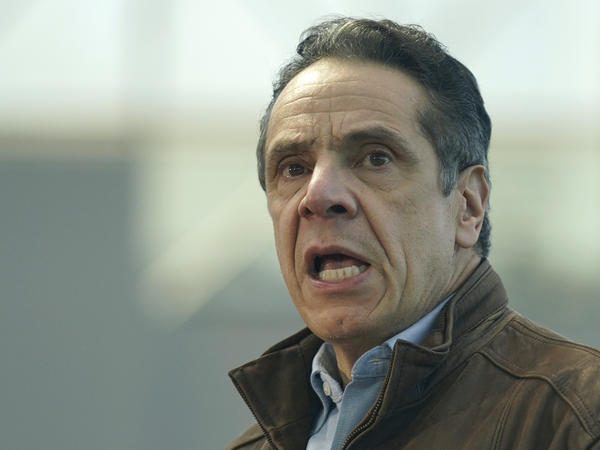 New York Gov. Andrew Cuomo, here in March, has announced he is stepping down. It's a remarkable turn of events from last year when Cuomo was seen as a rising star in the Democratic Party for his handling of the coronavirus pandemic.