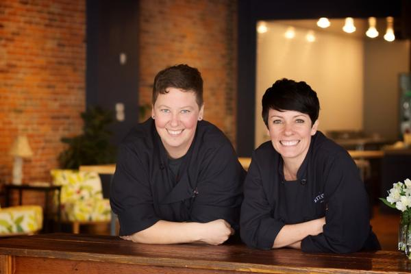 Jen Lindsey (left) and Anne Boninsegna and are co-owners of The Kitchen in Columbus, Ohio. They have had to say no to wedding parties and bridal showers because they can't find bartenders.