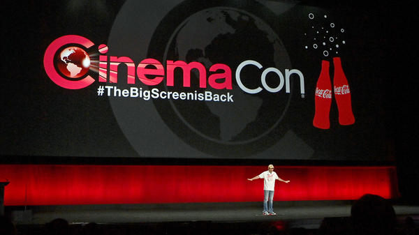 CinemaCon Managing Director Mitch Neuhauser speaks on stage at the 2021 event.