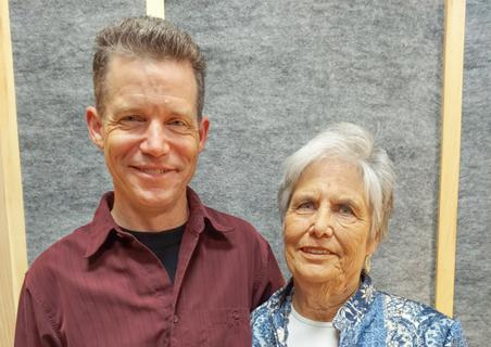 Keith and Lynn Chapman at their StoryCorps recording in Frederick, Md., on Aug. 20.