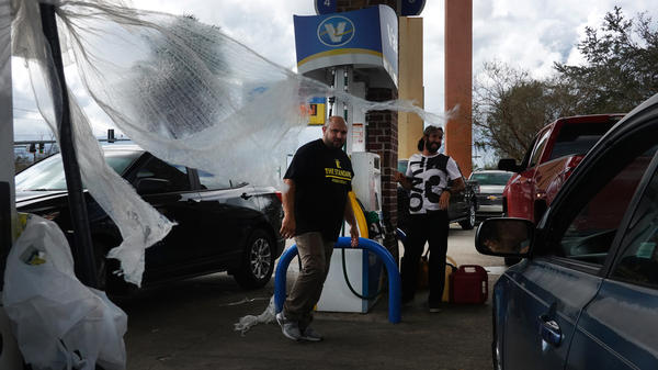 Customers in LaPlace, La., learn that a station is out of gas after waiting in line for more than an hour on Monday.