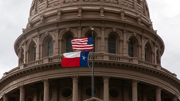 The Texas State Capitol in Austin is seen on the first day of the 87th Legislature's special session on July 8.