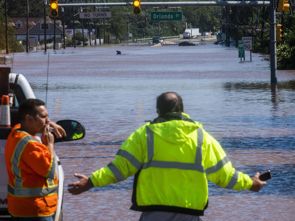 Route 206 in Somerville, N.J., remained largely under water on Thursday. Similar scenes played out across the state and its neighbors.