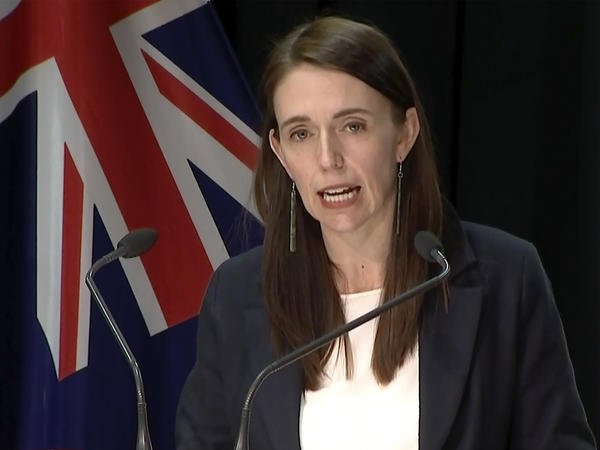 In this image made from video, New Zealand Prime Minister Jacinda Ardern speaks about a stabbing attack during a press conference, Friday, Sept. 3, 2021, in Wellington, New Zealand. New Zealand authorities say they shot and killed a violent extremist after he entered a supermarket and stabbed and injured six shoppers. Ardern described Friday's incident as a terror attack.
