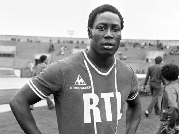 French soccer player Jean-Pierre Adams is shown here on July 26, 1977, in Paris on the grounds of Paris Saint-Germain, one of his former clubs.