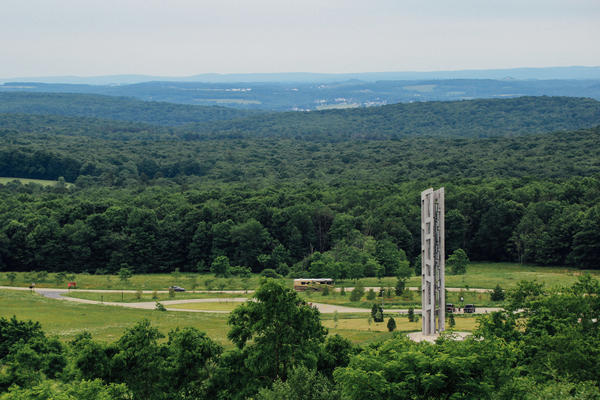 The Tower of Voices is seen at the Flight 93 National Memorial in southwestern Pennsylvania. The memorial is dedicated to the people who died on United Airlines Flight 93 on Sept. 11, 2001.