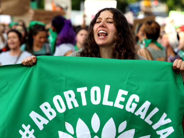Activists supporting the decriminalization of abortion in Mexico march in Guadalajara, Mexico, on September 28, 2019. Mexico's Supreme Court has ruled that it is unconstitutional to punish abortion.