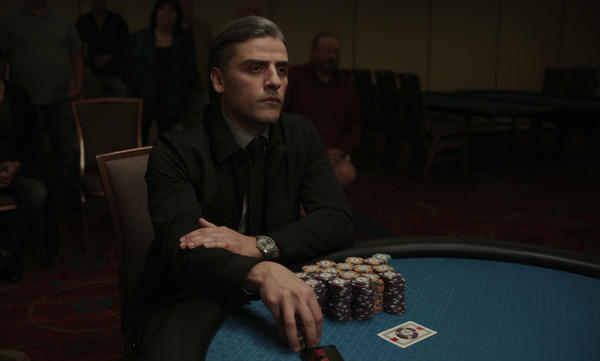 Oscar Isaac plays a former military interrogator who is haunted by the past in Paul Schrader's <em>The Card Counter.</em>