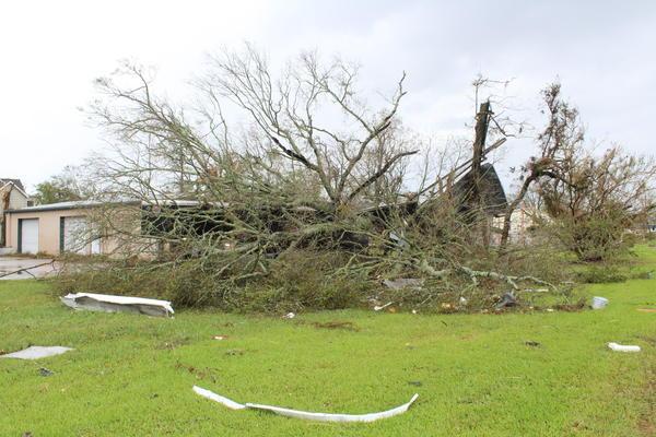 Storm damage in Calcasieu Parish after Hurricane Laura hit Louisiana last year. Aug. 28, 2020.