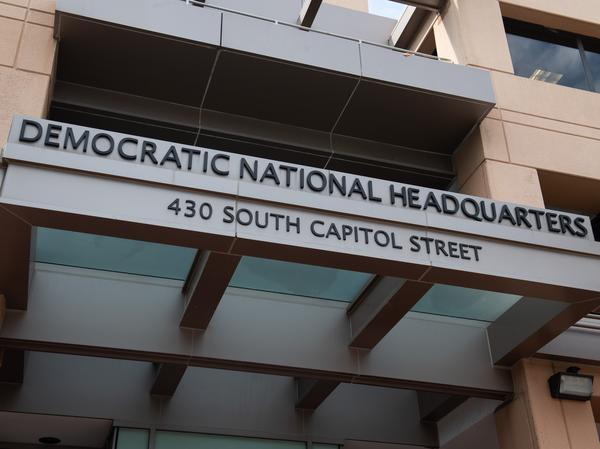 The Democratic National Committee's executive director thanked the U.S. Capitol Police for containing the threat near the group's headquarters in Washington, D.C., pictured in 2018.