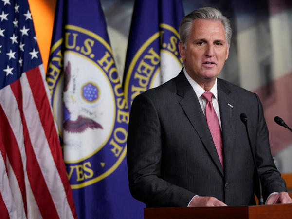House Minority Leader Kevin McCarthy, R-Calif., continues to make President Biden's handling of the economy the central theme in the runup to the 2022 midterms. McCarthy is poised to run for speaker if the GOP takes control of the House of Representatives.