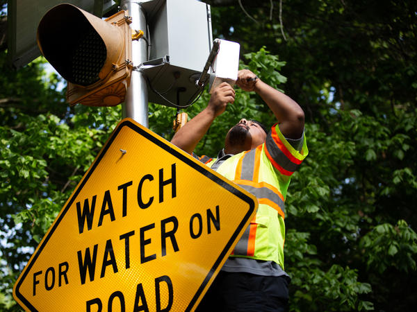 The city of Austin, Texas, has installed cameras that let residents see rising floodwaters at key intersections. It also has online maps of flooded areas, which TV newscasts sometimes show.