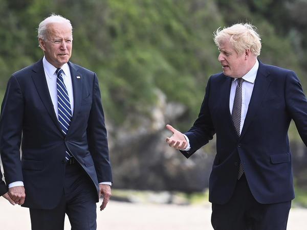 President Biden and British Prime Minister Boris Johnson met in Cornwall, Britain, ahead of the G-7 summit in June.