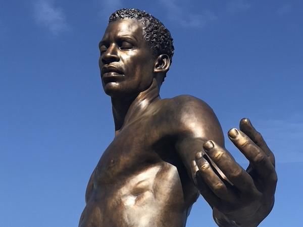 The new Emancipation and Freedom Monument in Richmond, Va., features two 12-foot bronze statues of a man and woman holding an infant who have been newly freed from slavery.