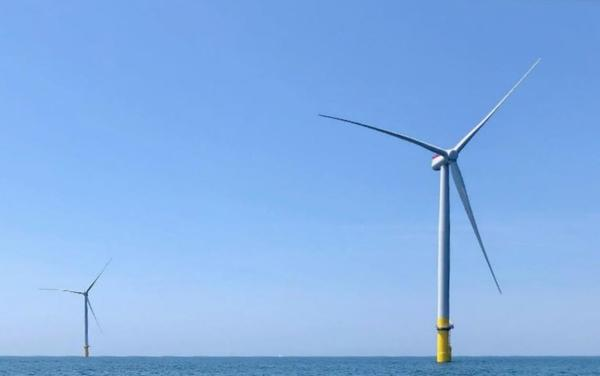 Dominion Energy says its 2-turbine offshore wind pilot project in the Atlantic Ocean off Virginia Beach is ready for commercial service.
