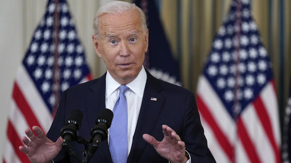President Biden speaks about the COVID-19 response and vaccinations at the White House on Friday.