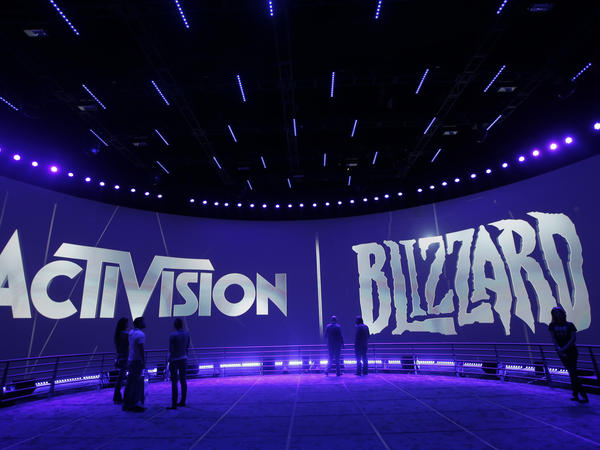 This June 13, 2013 file photo shows the Activision Blizzard Booth during the Electronic Entertainment Expo in Los Angeles. Activision Blizzard is one of the world's most high-profile video game companies.