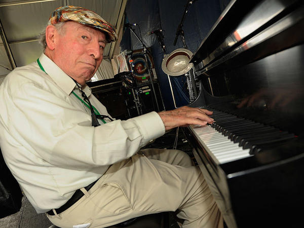 George Wein, backstage at the New Orleans Jazz & Heritage Festival in May 2012.