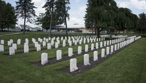 This cemetery on the grounds of Carlisle Barracks holds the remains of students from the former Carlisle Indian Industrial School.