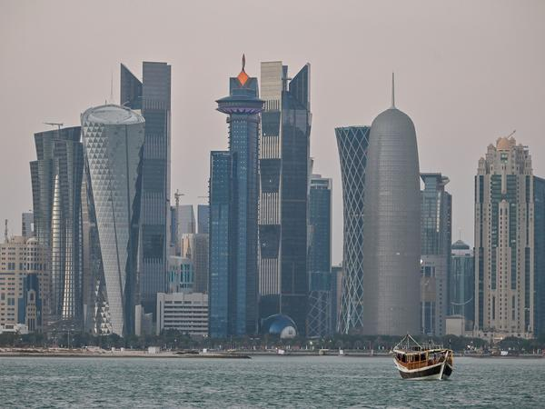 A general view of the skyline of the Qatari capital, Doha. Qatar has long played a center role in diplomacy on Afghanistan.
