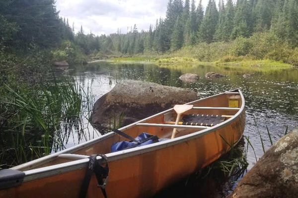 For a wild northern river like Quebec Brook in New York's Adirondack Mountains you need a small, light canoe that's easy to carry.