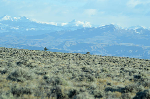A view of the mountains on the Wind River Reservation in Wyoming.