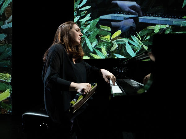 Simone Dinnerstein in dress rehearsal for <em>The Eye Is the First Circle.</em>
