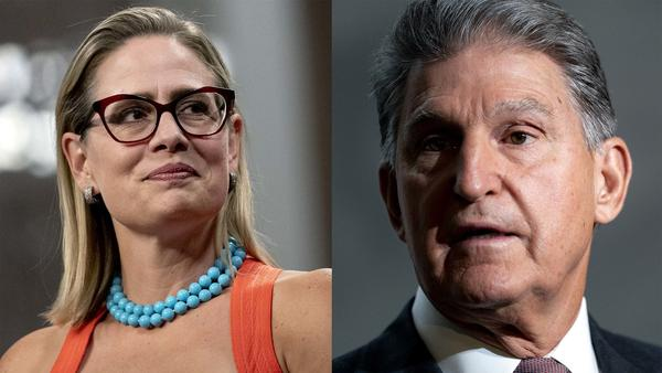 Sens. Kyrsten Sinema, D-Ariz., and Joe Manchin, D-W.Va., are the two holdouts as Democrats and the White House try to reach a deal on a sweeping spending bill. But their policy demands may put them at odds.