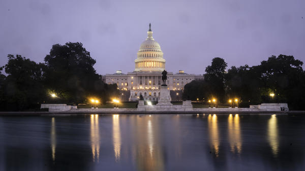 A view of the U.S. Capitol at dawn Oct. 6.